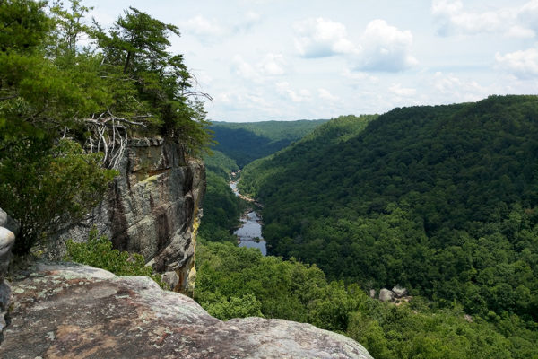 Angel Falls Overlook on the Grand Grap Loop is one of the most popular destinations in the Big South Fork for its stunning view.